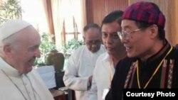 ပုပ္ရဟန္းမင္းႀကီး ဖရန္စစ္ႏွင့္ ကခ်င္ျပည္နယ္ ဒီမို ကေရစီပါတီ (KSDP) ဥကၠ႒ ေဒါက္တာတူးဂ်ာ(Ksdp Kachin)