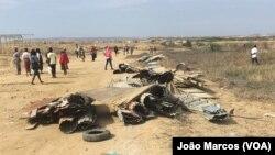 Polícia expulsa desalojados do bairro de Salinas, Benguela, Angola