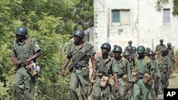 Nigerian soldiers on patrol. (File photo)