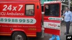 Une ambulance à Mumbai, en Inde, le 29 mai 2020.