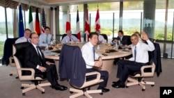 주요 7개국 G7 정상회의가 열린 일본 이세시마에서 27일 각 국 정상들이 회의를 진행하고 있다.