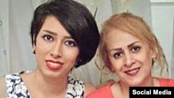 راحله احمدی در کنار فرزندش صبا کرد افشاری