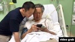 Alberto Fujimori à l'hôpital.