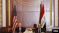 Biden dijo a al-Maliki que la retirada completa de las tropas es en el mejor interés de Estados Unidos y de Irak.