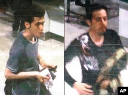 These images released by Interpol show Pouri Nourmohammadi, 19, (left) and Delavar Seyedmohammaderza, 29, who allegedly boarded the missing Malaysia Airlines jet with stolen passports.