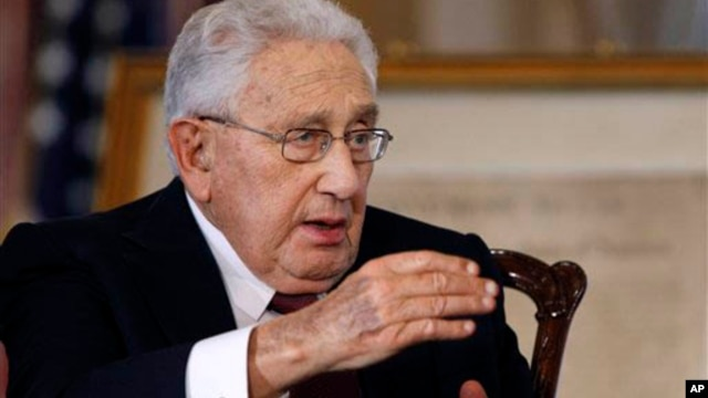 Former Secretary of State Henry Kissinger, pictured here in 2011, is not optimistic about the Arab Spring uprisings or chances of Israeli-Palestinian peace talks.