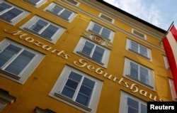 FILE - The birth house of Austrian composer Wolfgang Amadeus Mozart is seen in Salzburg, Austria, May 27, 2016.