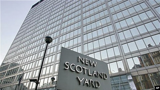 A view of New Scotland Yard, the headquarters building of the Metropolitan Police in London, Dec. 20, 2010
