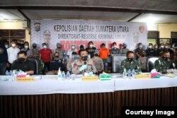 Kapolda Sumut, Irjen Pol Panca Putra Simanjuntak memberikan keterangan kepada media, Kamis 24 Juni 2021. (Courtesy: Humas Polda Sumut)