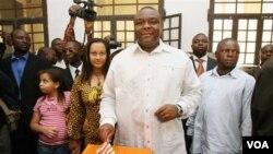 Jean-Pierre Bemba saat berlangsungnya pemilu di Kongo pada tahun 2006 (foto: dok)