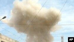 阿富汗爆炸襲擊現場。