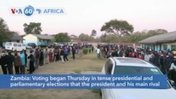VOA60 Africa - Zambia votes in tense presidential and parliamentary elections