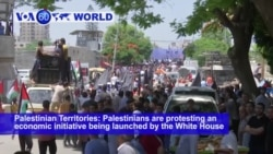 VOA60 World- Palestinian Territories: Palestinians are protesting an economic initiative being launched by the White House