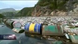 Otpad pluta rijekom Drinom