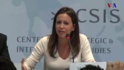 M.Corina Machado habla desde Washington