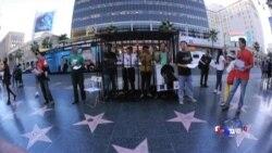 好莱坞星光大道新景点-政治牢笼