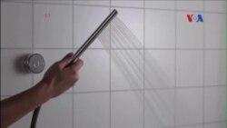 Vòi tắm trong không gian cho phép tái sử dụng nước nhiều lần