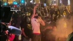 Jelang Jam Malam di Washington, Massa Masih Berkeliaran