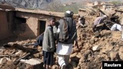 Foto de archivo de un terremoto en Nangarhar. Este lunes, dos terremotos sacudieron el norte de Afganistán.
