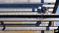 건설 현장의 미국인 노동자 (자료사진)