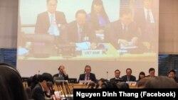 Phiên họp tại LHQ kiểm điểm về tình trạng thực thi Công ước chống tra tấn của Việt Nam ngày 14/11/2018.