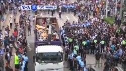VOA60 Duniya: 'Yan Sanda a Hong Kong Sunyi Karo da 'Yan Zanga-Zanga, Oktoba 13, 2014
