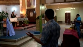 Worshipers are seen at St. Francis Roman Catholic church in the Libyan capital of Tripoli (file photo).
