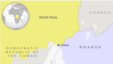 Map of North Kivu, DRC