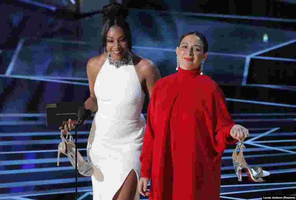 Tiffany Haddish à esquerda e Maya Rudolph num dos momentos altos dos Oscars