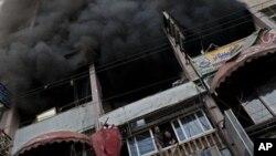 Здание в секторе Газа, поврежденное в результате налета израильских ВВС. 19 ноября 2012 г.