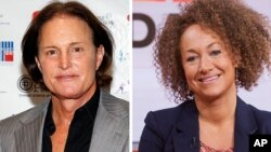 Bruce Jenner (L), now known as Caitlyn Jenner, and Rachel Dolezal. (AP Photos)