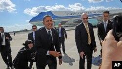 Tổng thống Obama đến Sân bay quốc tế JFK ở New York, ngày 24/9/2012