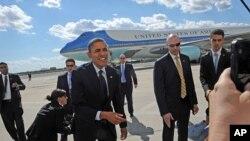 Barack Obama à son arrivée à New York lundi