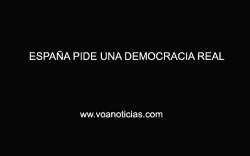 Madrid pide una democracia real