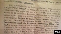 Angola procuradora jornalistas crime