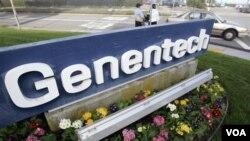 Genentech, perusahaan AS yang memproduksi obat kanker 'Avastin'.