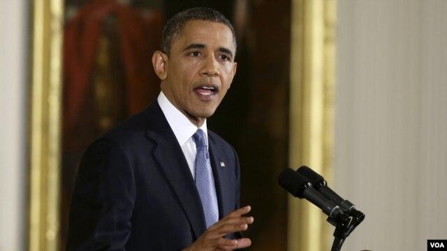 Tổng thống Hoa Kỳ Barack Obama trong cuộc họp báo tại Tòa Bạch Ốc, ngày 14/11/2012.