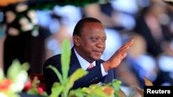 지난 10월 케냐 수도 나이로비에서 열린 행사에 참가한 우후루 케냐타 대통령.