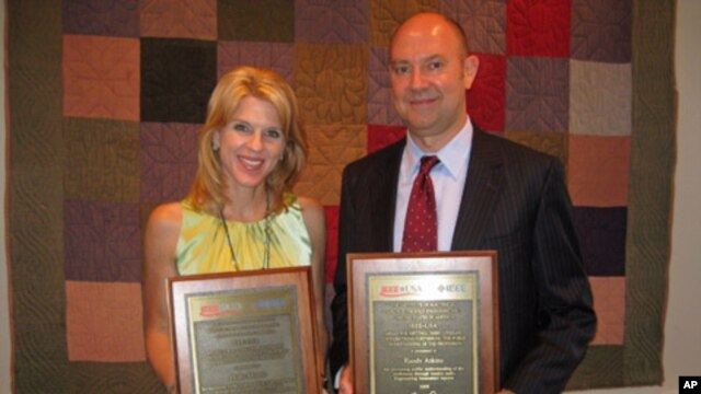 Holly Morris and Randy Atkins are the two winners of this year's IEEE USA Journalism Award.