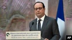 Le président français François Hollande, 20 mars 2017.