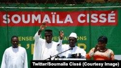 """Le candidat de l'opposition au second tour de la présidentielle au Mali, Soumaïla Cissé, a appelé les candidats battus à former autour de lui un """"large front démocratique"""" contre le président sortant Ibrahim Boubacar Keïta, au Mali, 3 août 2018."""