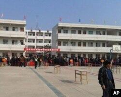 2月1日乌坎村投票现场