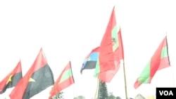 Angola bandeiras Unita MPLA