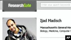 科学家社交网站上有关伊亚德·马迪什的信息
