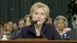 希拉里·克林顿国会作证后投入竞选