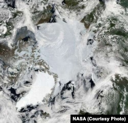 Ice wedges turn the Arctic tundra into a mosaic of images.