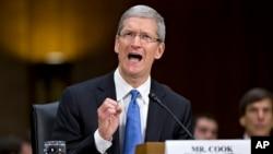 """Tổng giám đốc Công ty Apple Tim Cook. Ông Cook nói công ty đã được yêu cầu thi hành """"một bước chưa từng có từ trước đến nay"""" có thể đe dọa đến an ninh của khách hàng Apple."""