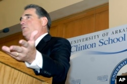 Former Congressman Billy Tauzin gives a speech in 2008.
