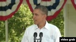 奧巴馬在競選活動中數次提到中國 (VOA視頻截圖)