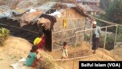 Réfugiés rohingyas au Bangladesh , le 31 décembre 2016.